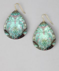 Turquoise Sleeping Owl Earrings