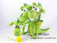 Amigurumi Crochet Pattern Brutus-Brian-Boris the Three by IlDikko Crochet Toys, Crochet Baby, Free Crochet, Catania, Half Double Crochet, Single Crochet, Harry Potter Dragon, Game Of Thrones Dragons, Crochet Dragon
