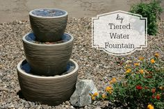 I can't believe how easy this water fountain is to make!  It's so much cheaper than buying an expensive fountain.