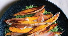 Roasted Sweet Potatoes with Speck and Chimichurri //Fall recipes //For more fall flavors check out www.plated.com/menu