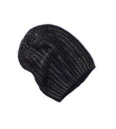 Image result for black metallic beanie