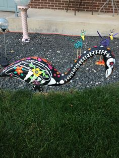 Day of the dead flamingo