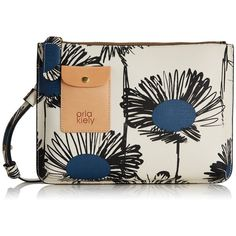 Orla Kiely Textured Vinil Sunflower Print Forget-Me-Not Bag ($66) ❤ liked on Polyvore featuring bags, orla kiely and orla kiely bags