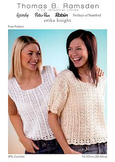 Ravelry: 4Ply Crochet Tops pattern by Thomas B. Ramsden & Co