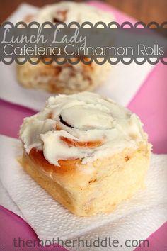 Lunch Lady Cafeteria Cinnamon Rolls