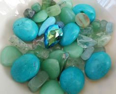 Deluxe Aqua - Destash Collection - gemstone beads, crafting supplies, aquamarine, crystal, mermaid inspired, high quality beading supplies by UncommonCollections on Etsy https://www.etsy.com/listing/475091506/deluxe-aqua-destash-collection-gemstone