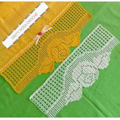 Image may contain: text Crochet Bedspread, Crochet Doilies, Crochet Lace, Crochet Border Patterns, Filet Crochet Charts, Crochet Kitchen, Diy And Crafts, Embroidery, Stitch