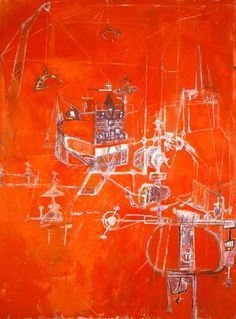 Hedda Sterne, Machine 5, 1950, Oil on canvas, 51 x 38 1/8 in., Krannert Art Museum and Kinkead Pavilion, University of Illinois at Urbana-Champaign Festival of Arts Purchase Fund 1950-7-1