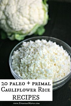 20 Interesting Cauliflower Rice Recipes #cauliflowerrice #lowcarb #grainfreerecipe