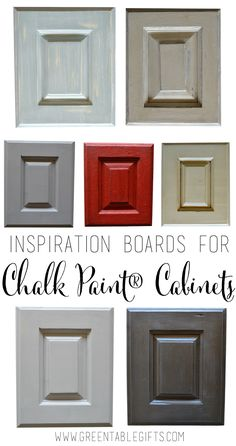 Inspiration for DIY custom kitchen makeovers with Chalk Paint® decorative paint by Annie Sloan from Green Table Gifts #chalkpaint #kitchen #cabinets