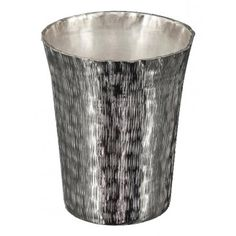 Vase Hammy in Textured Silver small