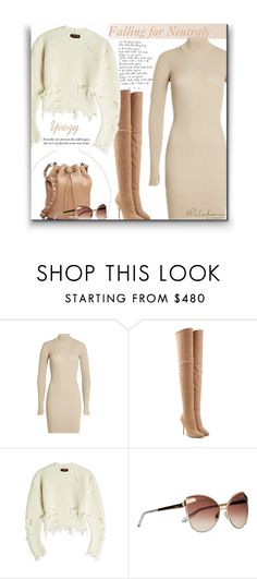 """""""Falling N2 U. Neutral Fashion"""" by sherieme ❤ liked on Polyvore featuring adidas Originals, Balmain, BCBGMAXAZRIA, Christian Dior, neutrals, Yeezy and polyvorecontest"""