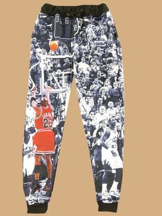 0999ac75d7d30 Women s Elastic Band Michael Jordan Print Fashion Sweatpants With Pocket