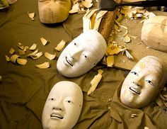 Construction of the Mirth Goddess masks.