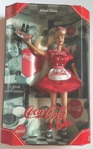 New 1998 Mattel Barbie Collector Ed Coca Cola Barbie as A Car Hop Waitress | eBay