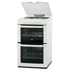 Zanussi, ZCG55QGW, Free-Standing Gas Cooker in White
