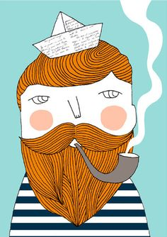bearded sailor.