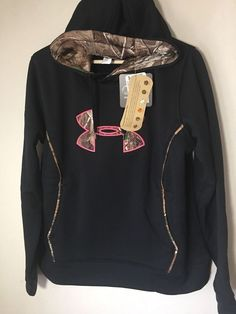 Under Armour Storm Caliber logo hoodie sweatshirt NWT XL womens' black camo $65 #Underarmour #Hoodie
