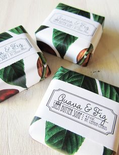 Guava and Fig Shea Butter Soap, $6