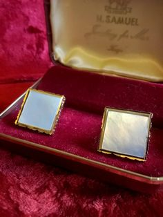 Cuff Links, Vintage Cuff Links, Cufflinks, Mother of Pearl , Suit Accessories, Mid Century, Hipster, Shirt and Tie, Gifts for Him, Jewelry by TillyofBloomsbury on Etsy