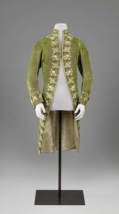 1775-1800, the Netherlands (?) - Coat - Silk velvet, silk, silver thread