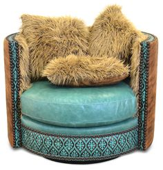 Leather Furniture ‹‹ Slick Rock Designs. This is an awesome chair...want it...sat in it at the National Western Stock Show in Denver. Saving my