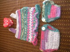 Crochet Infant Dress & 2 size diaper covers 2016
