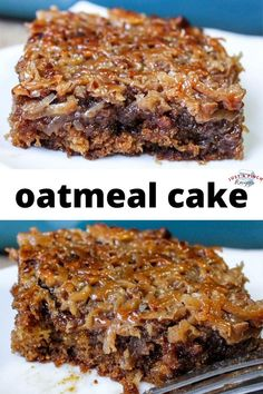 dessert recipes 31103053666367943 - Nutty and moist, this oatmeal cake is a wonderful recipe full of delicious nostalgia. The texture is almost like an ooey gooey cake but so much better. It's rich, sweet, and full of spices. Source by justapinchcooks Delicious Cake Recipes, Yummy Cakes, Sweet Recipes, Yummy Food, Tasty, Dessert Simple, Food Cakes, Cupcake Cakes, Cupcakes