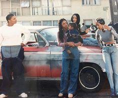 Set it off Black Girl Aesthetic, 90s Aesthetic, Chicano, Estilo Cholo, New Jack Swing, Vintage Black Glamour, Black Actresses, Rap Wallpaper, 90s Hip Hop