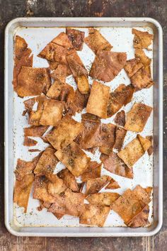 How to Make the BEST Homemade Pita Chips...These are so yummy to make and have with dips, salads or just to have as a snack! | The Mediterranean Dish