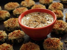 Home Skillet - Cooking Blog: Battle of the Bloggers - Za'atar and Sesame Zucchini Bites with a Sesame Lemon Dipping Sauce