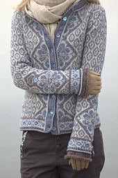 Ravelry: Project Gallery for Morgendis / Morning Mist pattern by Sidsel J. Fair Isle Knitting Patterns, Knitting Machine Patterns, Knit Vest, Crochet Cardigan, Cardigan Pattern, Knit Or Crochet, Fair Isles, Sweaters, Cardigans