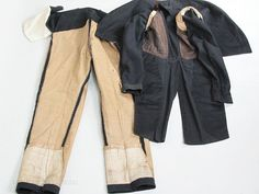 Rare Mens Circa 1810 Regency Wool Suit - Fall Front Trousers & M-Notch Tailcoat ON LAYAWAY