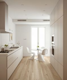 Sleek, clean and fresh this award winning Bulthaup kitchen is highly equipped Kitchen Interior, Home Interior Design, Interior Decorating, Design Kitchen, The Residents, Bulthaup B1, Panton Chair, Cuisines Design, Küchen Design