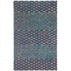 Found it at Wayfair - Charisma Red/Blue Mosaic Area Rug