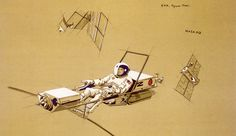 Raymond Loewy NASA Space Maintenance Taxi S/N Ltd Father of Industrial Design in Art, Art from Dealers & Resellers, Prints Days Of Future Passed, Basic Life Support, Raymond Loewy, Visual Literacy, Time Capsule, Automotive Design, Retro Design, Design Agency, Graphic Illustration