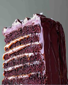 Salted-Caramel Six-Layer Chocolate Cake. Saw this on PBS and began drooling!