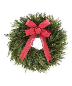Another great find on #zulily! Natural Preserved Cedar Wreath #zulilyfinds