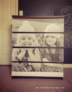 Personalize with a blown-up family photo | 99 Clever Ways To Transform A Boring Dresser