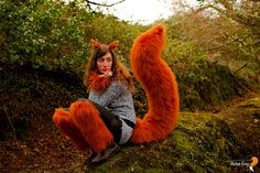 Squirrel Costume, Squirrel Tail, Cute Squirrel, Fox Costume, Diy Costumes, Halloween Costumes, Black Headband, Forest Friends, Ear Headbands