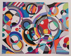 """""""Eye Candy #3"""" (19x24) by famous American artist and sculptor Bruce Gray is done with pen and ink and magic markers on paper. This original ..."""