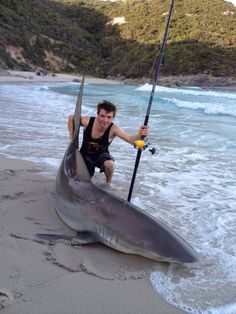 Land based shark fishing in Australia