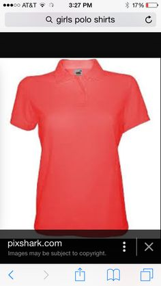 Pretty coral polo would go great with a maxi skirt!