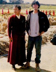 Keanu Reeves - set of Little Buddha (1993)
