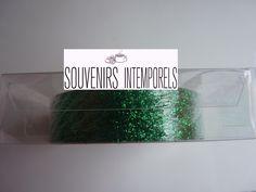 1 rouleau de glitter tape ruban adhésif non repositionnable à paillettes coloris vert foncé : Stickers, autocollants par souvenirs-intemporels