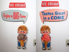Vintage Eat-It-All Sales-Mobile Ice Cream Cones A