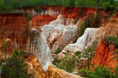 Georgia's Little Grand Canyon - Providence Canyon State Park near Lumpkin…