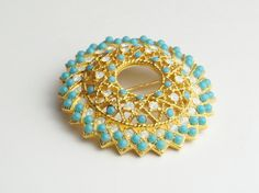 Vintage Sarah Coventry Turquoise Seed Bead by WeLoveVintageJewelry, $14.75