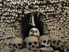 Visit the spooky Sedlec Ossuary in Czech Republic. There's a reason this ossuary is one of the most popular attractions in the country – it's creepy. And its interior is made almost entirely of bones from humans who died during the plague