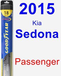 Passenger Wiper Blade for 2015 Kia Sedona - Hybrid